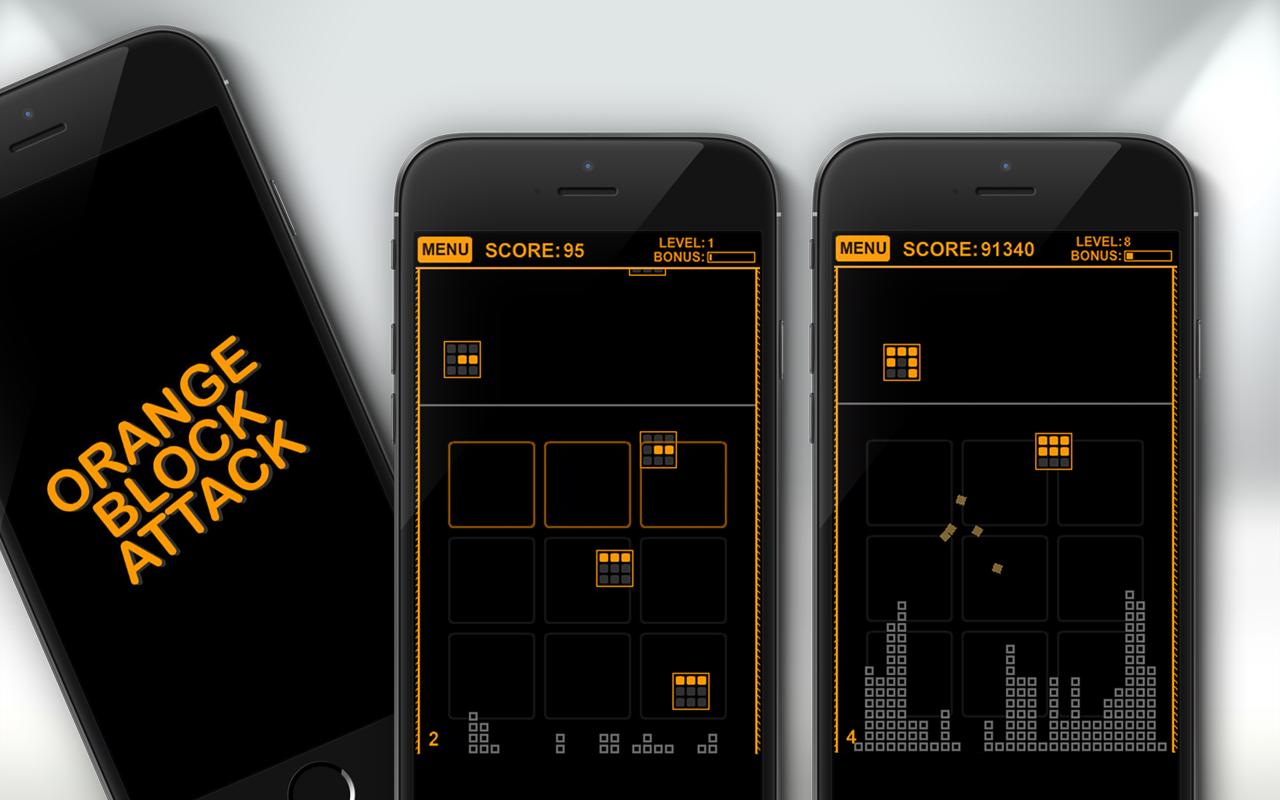 Orange Block Attack screenshots